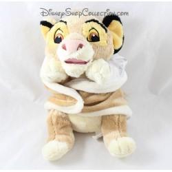 Peluche Simba DISNEY NICOTOY The Lion King beige blanket 24 cm