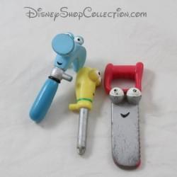 Lote de 3 figuras de MatteL Disney Manny y sus herramientas