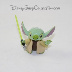Stitch DISNEY Star Wars figure disguised as Yoda sabre pvc 5 cm