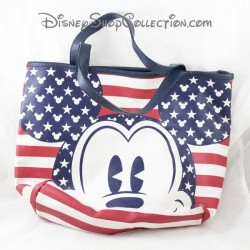 Mickey DISNEYLAND PARIS flag USA red blue Disney bag
