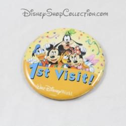 Badge 1st visit WALT DISNEY WORLD Mickey et ses amis première viste 7 cm