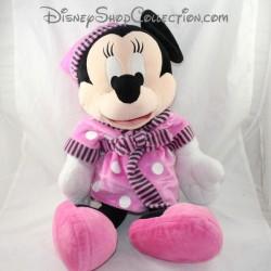 Grande peluche Minnie NICOTOY Disney peignoir rose 62 cm