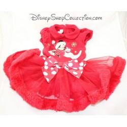 Disney STORE Red Minnie Christmas Dress 6-9 months