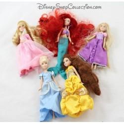 Mini poupées DISNEY STORE Raiponce, Blanche Neige et Aurore 16 cm