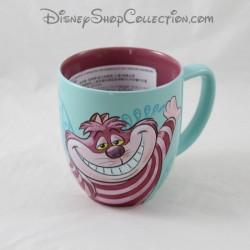 Taza Cheshire gato DISNEY STORE Alicia en el País de las Maravillas copa azul rosa 10 cm