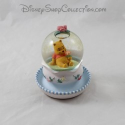 Snowglobe Winnie DISNEY flower pot pink blue snowball 12 cm