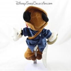 Peluche Mickey DISNEYLAND PARIS pirate des Caraïbes bleu marron 26 cm