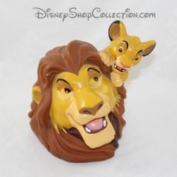 Tirelire plastique Mufasa et Simba DISNEY Le Roi Lion grande figurine Pvc 17 cm