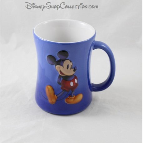 Mickey DISNEYLAND PARIS relief mug blue 3D ceramic cup Disney 11 cm