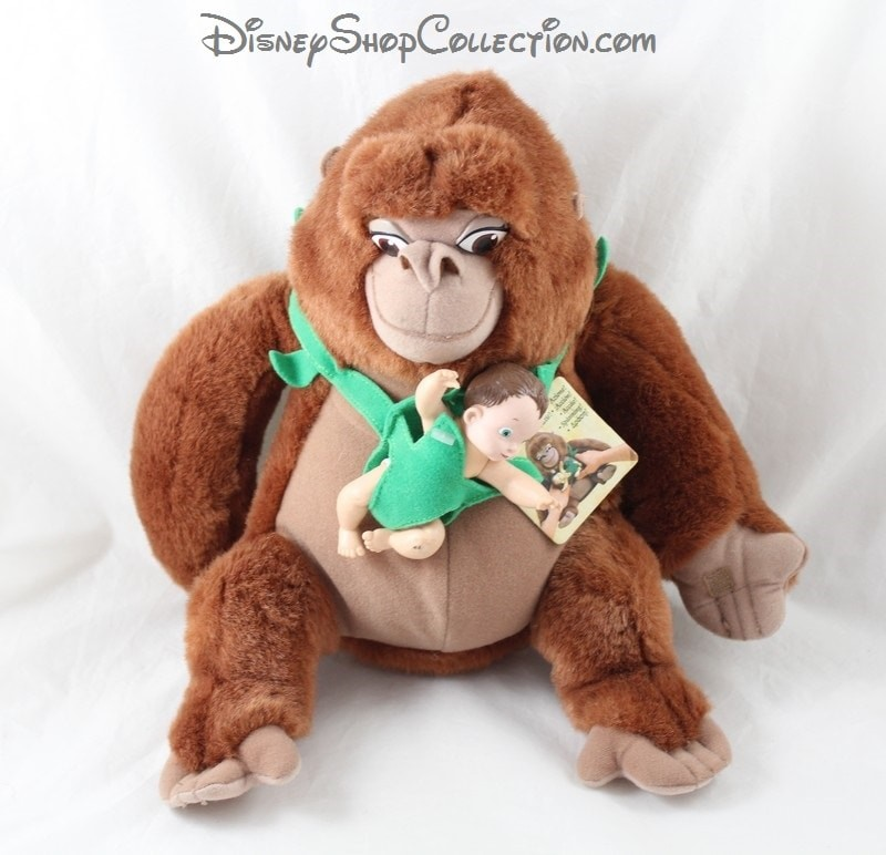 Peluche Kala Monkey Disney Tarzan Baby Jungle Heart Vintage Rare D