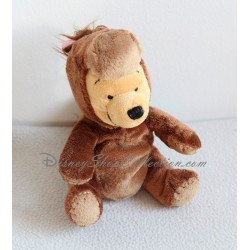 Peluche Winnie l'ourson DISNEY STORE déguisé en cheval marron 16 cm