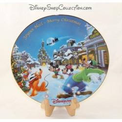 Assiette décorative Mickey Minnie DISNEYLAND PARIS Joyeux Noël Merry Christmas