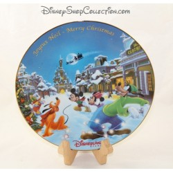 Mickey Minnie DISNEYLAND PARIS Decorative Plate Merry Christmas Merry Christmas