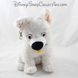 Peluche chien Volt JEMINI Disney Volt star malgré lui blanc poche au dos 28 cm
