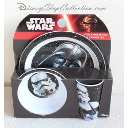Dinner set Star Wars DISNEY 3 Piece breakfast Kids Plastic Lunch Set