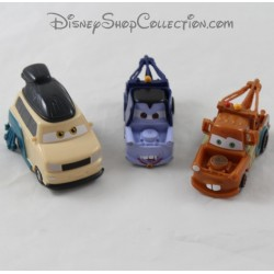 Lot of 3 plastic cars Martin, Dracula Mater and Kingpin Nobunaga DISNEY PIXAR Cars 7 cm