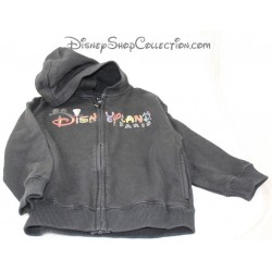 Sweat zipped DISNEYLAND PARIS black jacket jacket Disney 4 years