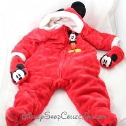 Combinaison Mickey DISNEY STORE rouge polaire