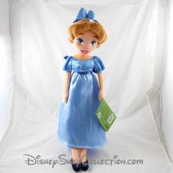 Poupée peluche Wendy DISNEYLAND PARIS Peter Pan robe bleue Disney 48 cm