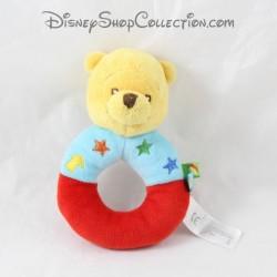 Hochet Winnie l'ourson DISNEY BABY bleu rouge étoiles