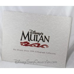 Lithographie DISNEY STORE The 1999 Lithograph Collection Mulan 35 x 28 cm