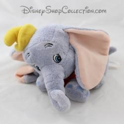 Peluche éléphant Dumbo DISNEYLAND PARIS bleu col rouge Disney 22 cm