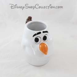 3D Snowman Mug Olaf DISNEY STORE The Snow Queen face 13 cm cup