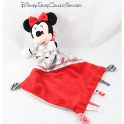 Doudou mouchoir Minnie DISNEY BABY NICOTOY rouge étoile nuage losange 40 cm