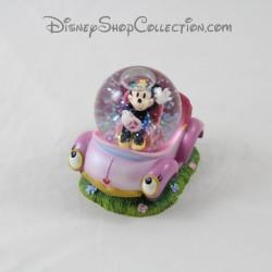 Snow globe Minnie DISNEY voiture rose boule à neige 7 cm