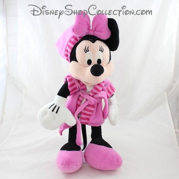 Peluche Minnie Pts Srl Disney Peignoir Robe De Chambre Rose 40 Cm
