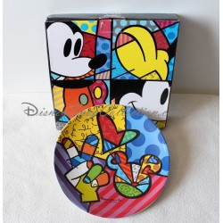 Assiette BRITTO DISNEY Peace, love & Mickey Pop Art Design