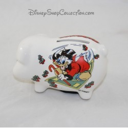 Piggy bank duck Scrooge WALT DISNEY PRODUCTIONS ceramic 11 cm