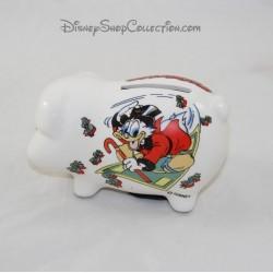 Piggy bank duck Scrooge WALT DISNEY PRODUCTIONS ceramic 11 cm
