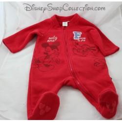 Surpyjama polaire DISNEY BABY Mickey et Pluto pyjama rouge 6 mois