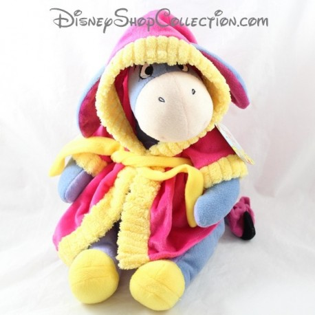 Peluche Bourriquet DISNEY NICOTOY dressing gown yellow pink 29 cm