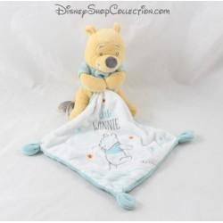 Doudou mouchoir Winnie l'ourson DISNEY Simba Toys Little Winnie bleu