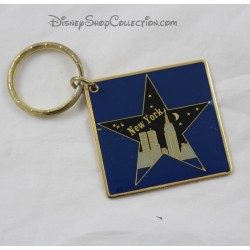Key hotel door New York DISNEYLAND PARIS metal square star blue night