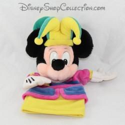 Peluche marionnette Mickey DISNEYLAND PARIS Fou du roi Disney 28 cm