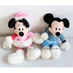 Peluches Minnie et Mickey DISNEYLAND PARIS hiver manteau écharpe bottes 29 cm