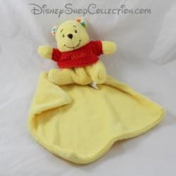 Doudou mouchoir Winnie l'ourson POSH PAWS Disney mouchoir au dos 12 cm