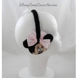 Cache oreilles Minnie DISNEY noeud rose pois blanc enfant