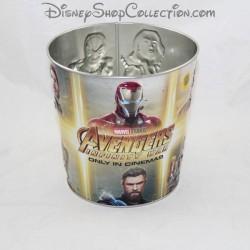 Seau à pop corn MARVEL Avengers Infinity War en métal Disney 16 cm