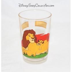 Glass The Lion King DISNEY Mufasa and Simba Amora mustard