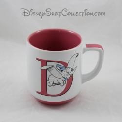 Taza Dumbo DISNEYLAND PARIS carta D taza de cerámica Disney 10 cm