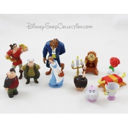 Lot of 12 figurines Beauty and the Beast DISNEY pvc 6 cm