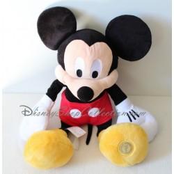 Peluche Mickey DISNEY STORE 50 cm classique noir et rouge