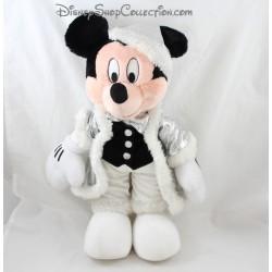 Peluche Mickey DISNEY Père Noël argenté vintage 43 cm