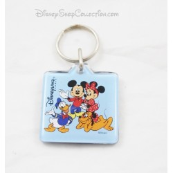Porte clés Mickey Minnie DISNEYLAND PARIS Dingo Donald carré bleu