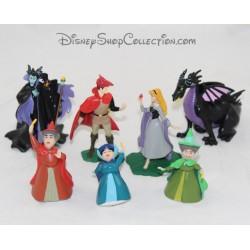 Lote de 7 figuras Aurora DISNEY PARKS Set de la Bella Durmiente