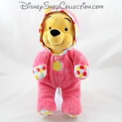 Peluche Winnie l'Ourson DISNEY NICOTOY grenouillère rose pyjama 30 cm
